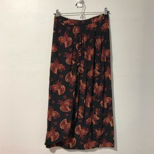 Componix Floral & Paisley Skirt 100% Rayon Size 6